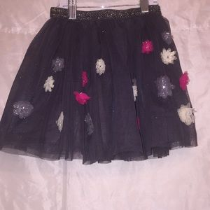 1989 Place 🌺 tulle w/flowers sparkly skirt Sz 7/8